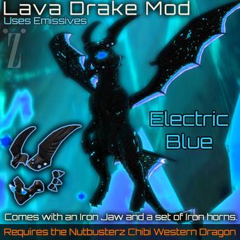 [inZoxi] - Box - Electric Blue Drake Chibi Western Mod