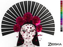 Zibska ~ Roisin Color Change Headpiece and Petal Veil
