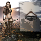 AtaMe - Quora Leather Panties Black - Maitreya, Legacy, Hourglass