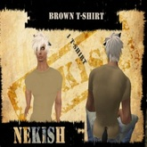 Men's & Women's Sexy Clothing & Accessories ~ Brown T- SHirt