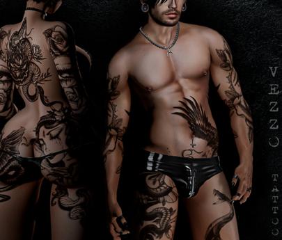 Snake Tattoo Unisex - Black, single color, Maitreya, Legacy, INTHIUM KUPRA, Belleza, Signature, Omega, BOM - Vezzo Ink