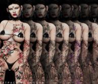 Gloria Tattoo - Unisex, Coloured Fatpack, Maitreya, Legacy, INTHIUM KUPRA, Belleza, Signature, Omega, BOM - Vezzo Ink