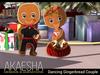 Dancing Gingerbread Couple (Animesh Christmas Decoration)