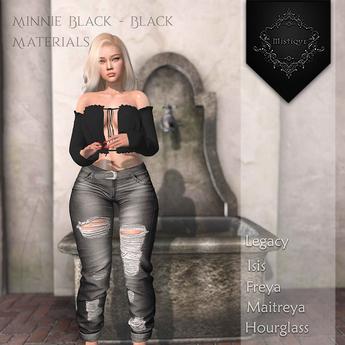**Mistique** Minnie Black/Black{wear me and click to unpack)