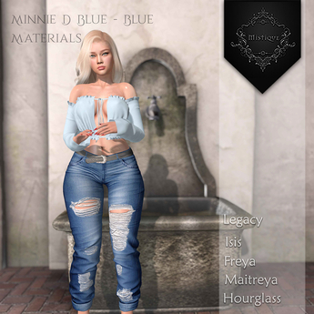 **Mistique** Minnie D Blue/Blue{wear me and click to unpack)