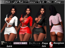 [ Mesh ] Full Pack ( 4 Textured ) Top & Skirt - Honey