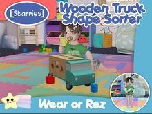 [Starries] Wooden Truck Shape Sorter