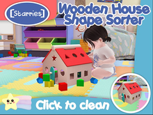 [Starries] Wooden House Shape Sorter