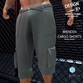 -[d9]- Brenden Cargo Shorts Gray