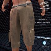 -[d9]- Brenden Cargo Shorts Brown