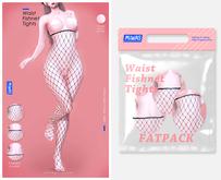 MIWAS / Waist Fishnet tights #FATPACK
