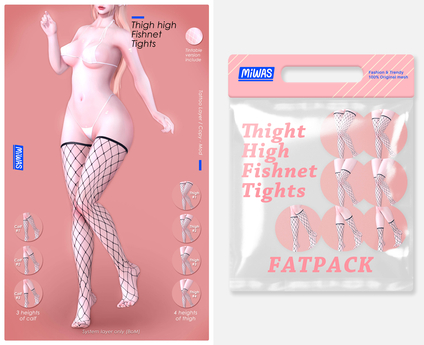 MIWAS / Thigh High Fishnet tights #FATPACK