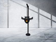 Crowded Room -  Bat Fire Lamp