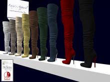 Crumpled Thigh High Boots: Belleza, Maitreya, Slink FAT PACK