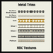 Metal trim contact sheet slm