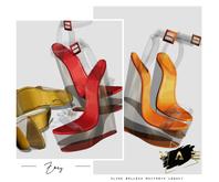Vague. Zoey Heels - Orange -