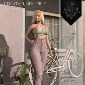 **Mistique** Renata linen Pink{wear me and click to unpack)