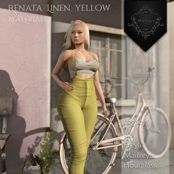**Mistique** Renata linen Yellow{wear me and click to unpack)