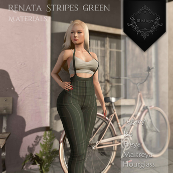 **Mistique** Renata Stripes Green{wear me and click to unpack)