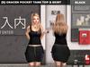 [S] Gracen Pocket Tank Top & Skirt Black