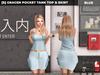 [S] Gracen Pocket Tank Top & Skirt Blue