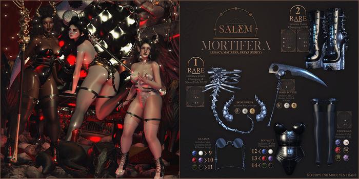 14 - [Salem] Mortifera - Bodysuit // Black & Olive - Maitreya
