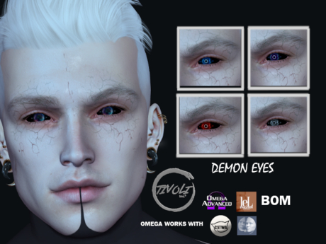 -Tivoli inc - Demon eyes Omega / BOM / LELUTKA , omega will work also with catwa and genus