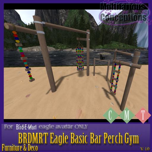 [MC]  BRDMRT Eagle Basic Bar Perch Gym  [wear to unpack]