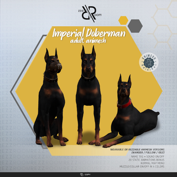 [REZZ ROOM] Pack IMPERIAL DOBERMAN ANIMESH (Companion)