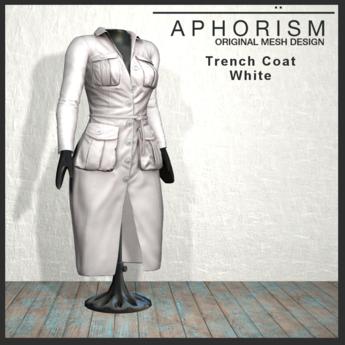 !APHORISM! - Trench Coat White