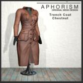 !APHORISM! - Trench Coat Chestnut