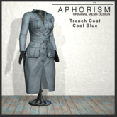 !APHORISM! - Trench Coat Cool Blue
