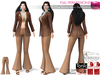 Full Perm 1970s Clay Brown Retro Bell Bottom Pants For Maitreya Slink Belleza Tonic Ocacin Classic Body