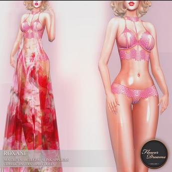 .:FlowerDreams:. Roxane Lingerie Set Pink