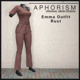 !APHORISM! - Emma Outfit Rust