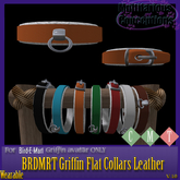 [MC]  BRDMRT Griffin Flat Collars [LEATHER] [wear to unpack]