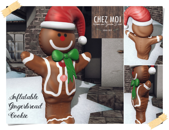 CHEZ MOI ♥ Inflatable Gingerbread Cookie