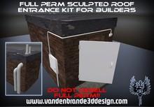 ~Full perm sculpted roof entrance kit + Maps! 1 prims each part