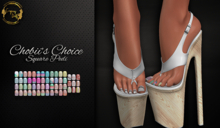 ~GD~Chobbi's Choice(Square Pedi) - Legacy Mesh Feet (f)
