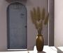 CJ Pampas Grass Sparsely Leafed Shrub in golden Vase