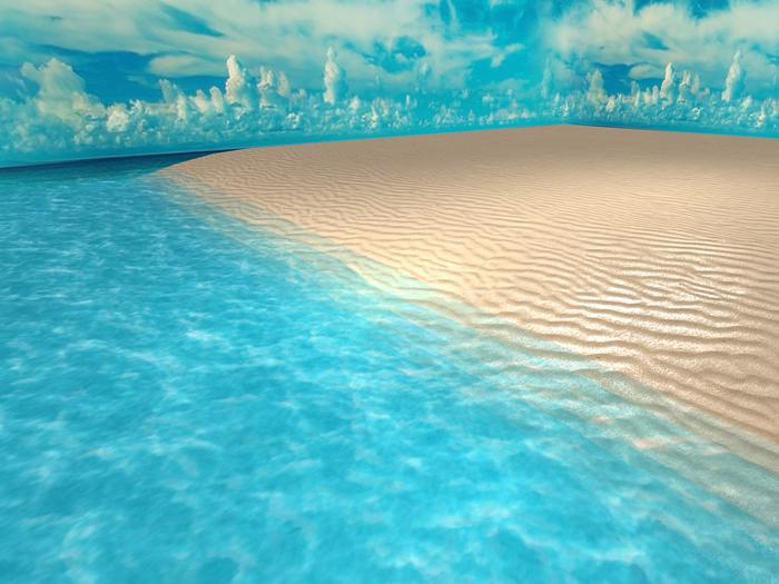 Beach Skybox 32x32 for 1024m² - MESH - Textures HD - 3 prim each