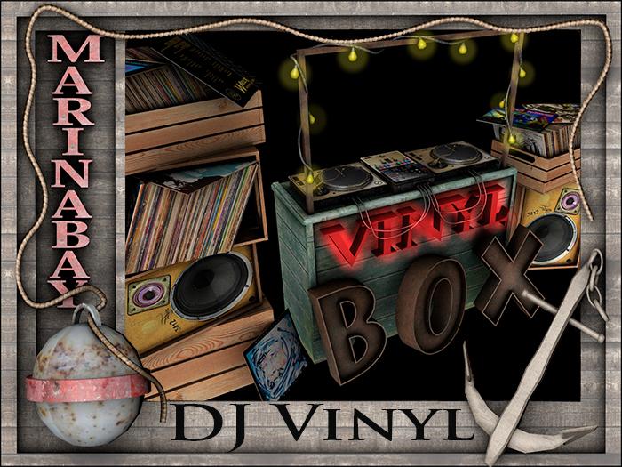 DJ booth vinyl