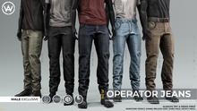 [WAZ] Operator Jeans (Olive) BOXED [Add/Rezz]