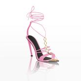 Nai Strap Heels — Hot Pink