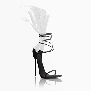 Aneja Feather Heels — Dove