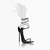 Aneja Feather Heels — Dove