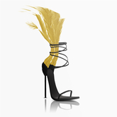 Aneja Feather Heels — Canary