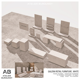 Atelier Burgundy . Galeria Retail Furniture . Full White
