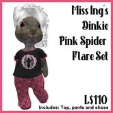 Miss Ing's Dinkie Pink Spider Flare Set