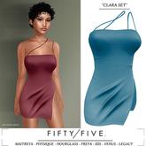 Fifty/Five. Clara Set - One Sided Dress - Blue